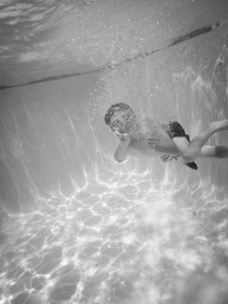 Photograph - Underwater Series - Boy In Bubbles by Kelly Hazel
