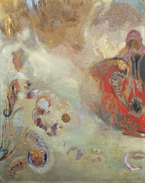 Tsunami Painting - Underwater Vision, 1910 by Odilon Redon