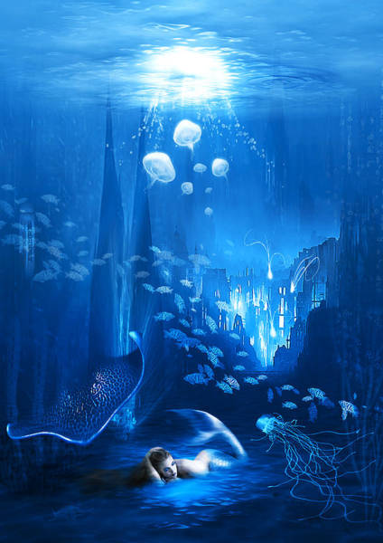 Mamal Digital Art - Underwater World by Svetlana Sewell