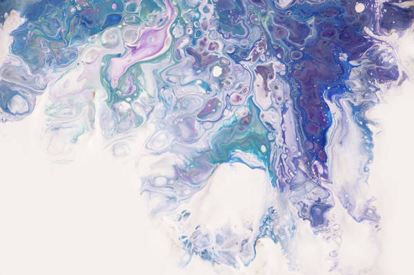 Wall Art - Photograph - Underwater Worlds Fragment 7. Abstract Fluid Acrylic Painting by Jenny Rainbow