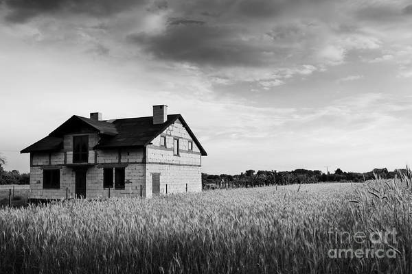 Wall Art - Photograph - Undone Disused House In Field by Arletta Cwalina