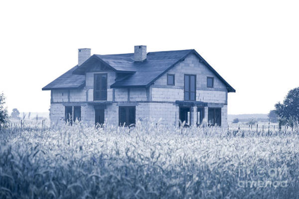 Wall Art - Photograph - Undone New House In Field by Arletta Cwalina