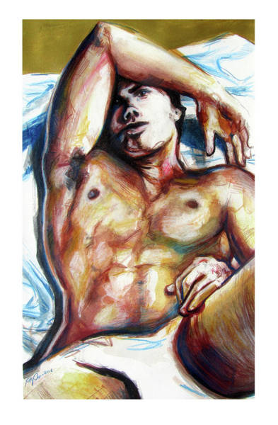 Wall Art - Painting - Undressed Male Figure From Europe  by Rene Capone