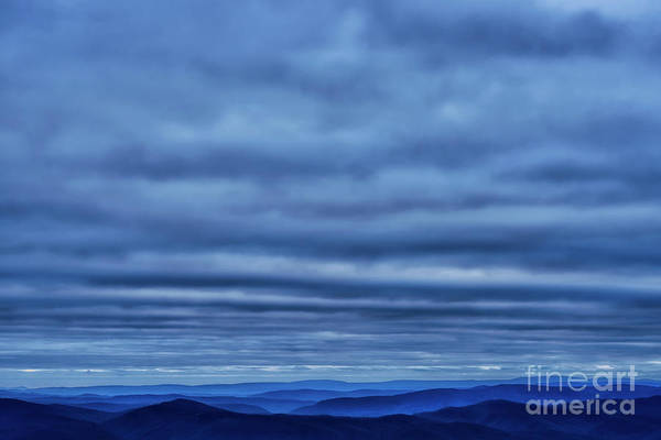 Photograph - Undulations Clouds And Mountains by Thomas R Fletcher