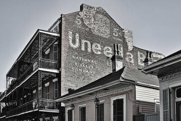 Nabisco Photograph - Uneeda 5 Cent Biscuit Company In B/w - New Orleans by Greg Jackson