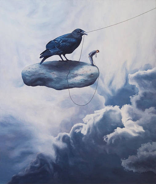 Idealism Wall Art - Painting - Unexpected Departure by Paul Bond