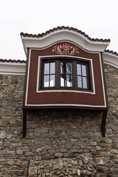 Photograph - Unexpected Feature - Oriel Window On A High Stone Wall by Georgia Mizuleva