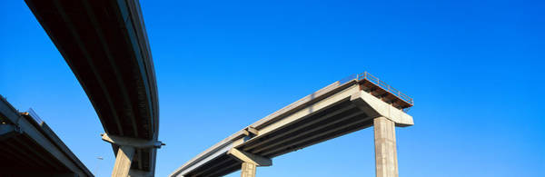 Fort Worth Photograph - Unfinished Freeway Ramp by Panoramic Images