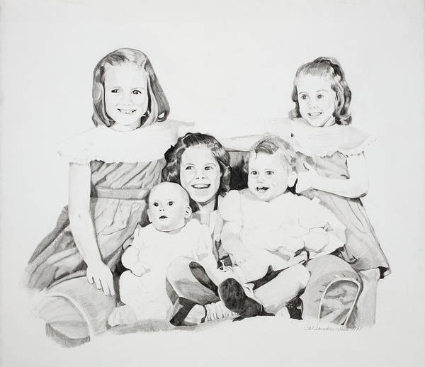 Drawing - Unfinished Sisters by Pat Saunders-White