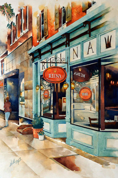 City Cafe Wall Art - Painting - Unfinished...reina by Mick Williams