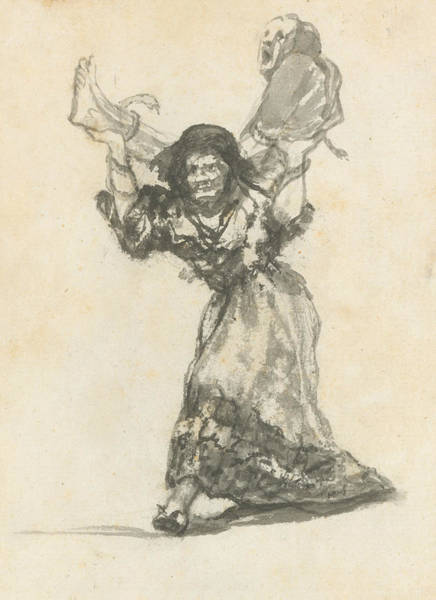 Drawing - Unholy Union by Francisco Goya