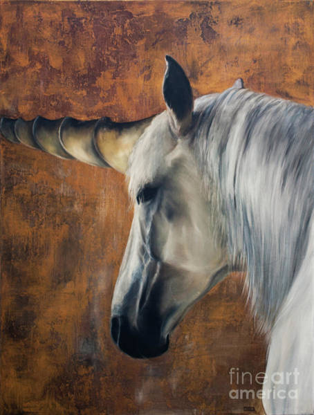 Wall Art - Painting - Unicorn - A Magical Blessing - Symbol Of Purity by Julie Bond