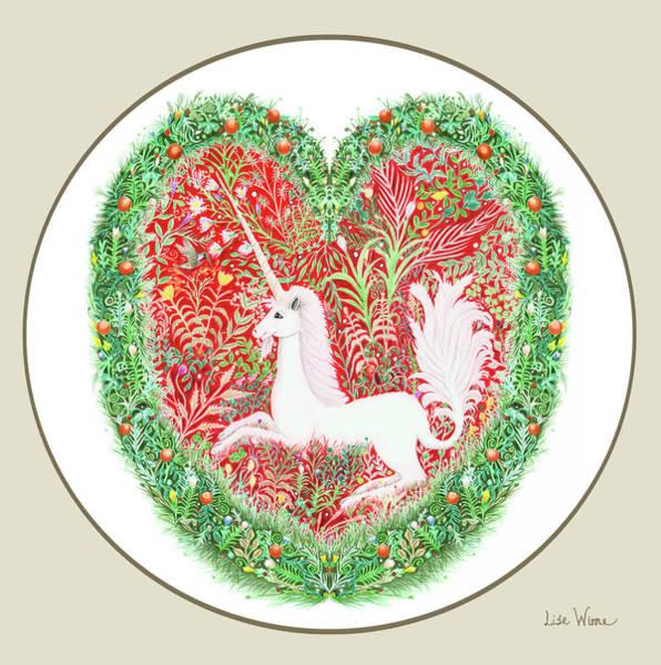 Painting - Unicorn Button by Lise Winne