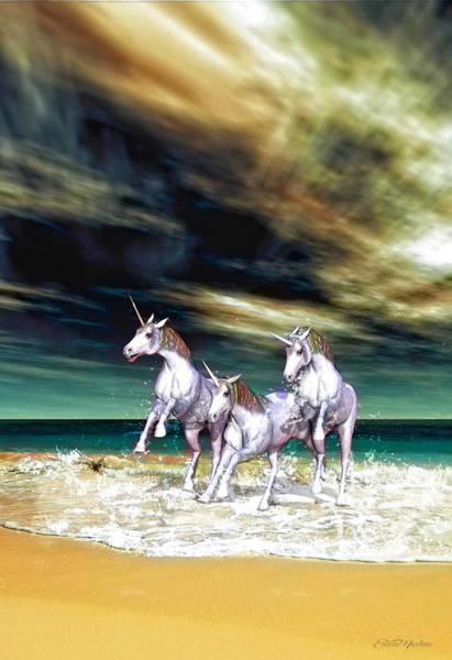 Digital Art - Unicorn Dreams - Digital Art by Ericamaxine Price