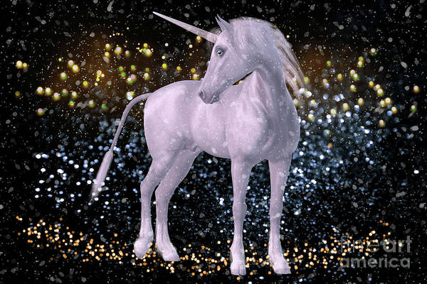 Digital Art - Unicorn Dust by Digital Art Cafe