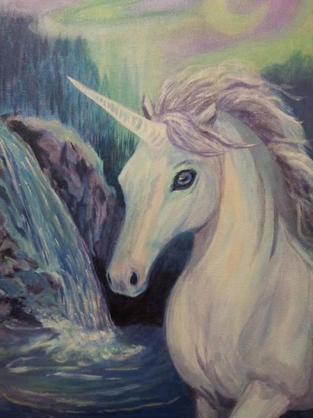 Wall Art - Painting - Unicorn by Janne Henn