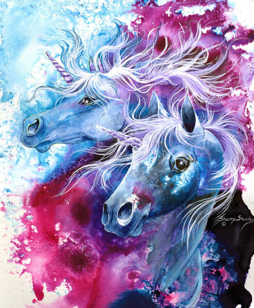 Painting - Unicorn Magic by Sherry Shipley