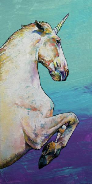 Unicorn Wall Art - Painting - Unicorn by Michael Creese