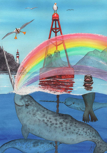 Painting - Unicorn Of The Sea by Catherine G McElroy