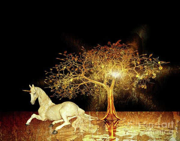Digital Art - Unicorn Resting Series 1 by Digital Art Cafe
