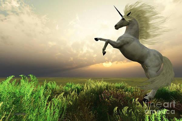 Unicorn Horn Digital Art - Unicorn Stag by Corey Ford