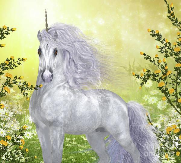 Unicorn Horn Digital Art - Unicorn White Male by Corey Ford