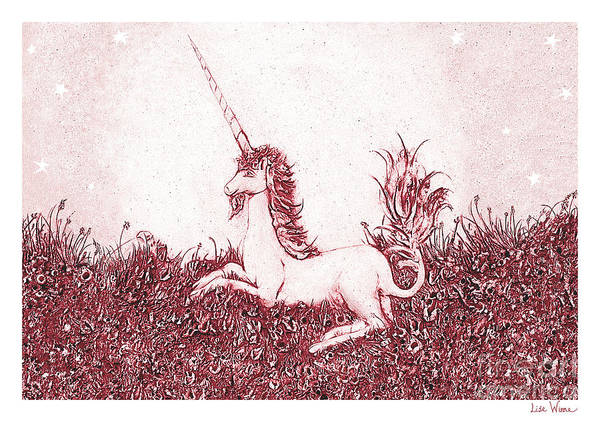 Sculpture - Unicorn With Stars by Lise Winne
