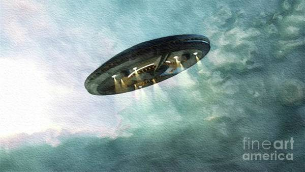 Area 51 Wall Art - Painting - Unidentified Flying Object by John Springfield