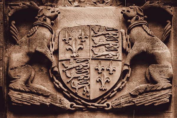 Photograph - Unidentified Vintage Stone Coat Of Arms by Jacek Wojnarowski
