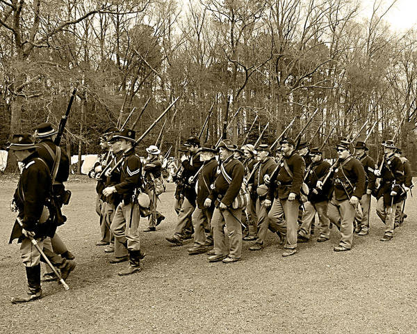 Wall Art - Photograph - Union Army Marches by Frank Savarese