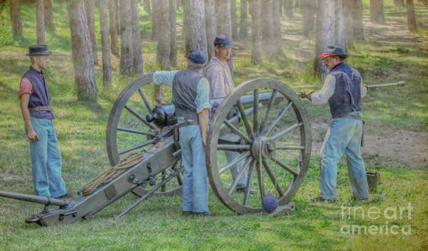 Artillery Digital Art - Union Cannon Civil War Color Version by Randy Steele