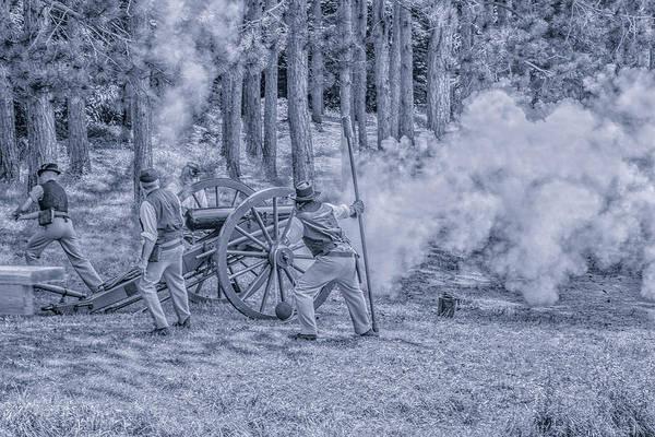 Union Cannon Civil War Toned Art Print