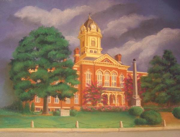 Wall Art - Painting - Union County Courthouse by Diane Caudle
