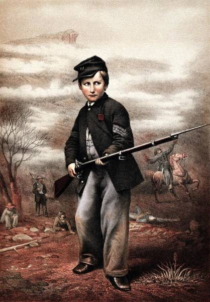 Civil War Wall Art - Painting - Union Drummer Boy John Clem by War Is Hell Store