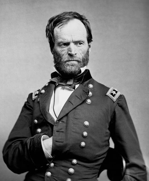 Sherman Photograph - Union General William Tecumseh Sherman 1865 by Daniel Hagerman