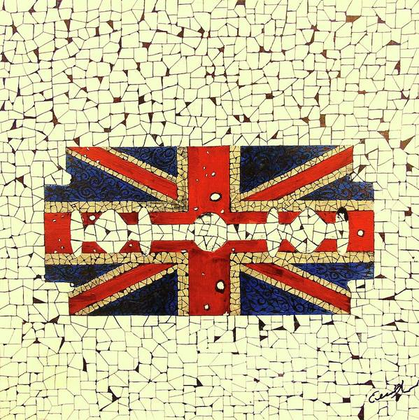 Wall Art - Painting - Union Jack 2 by Emil Bodourov