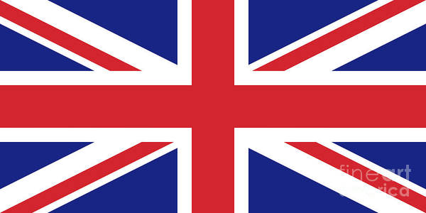 Wall Art - Digital Art - Union Jack Ensign Flag 1x2 Scale by Bruce Stanfield