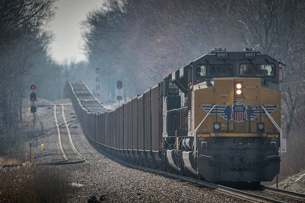 Norfolk Southern Railway Wall Art - Photograph - Union Pacific 8997 On West Bound Norfolk Southern Coal Train by Jim Pearson