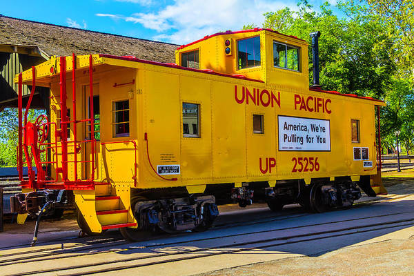 Wall Art - Photograph - Union Pacific Caboose by Garry Gay