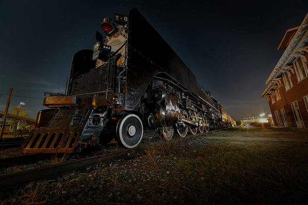 Photograph - Union Pacific Engine 844 At Rest In Fairbury Nebraska At The Rock Island Depot by Art Whitton