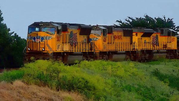 Digital Art - Union Pacific Line by Shelli Fitzpatrick