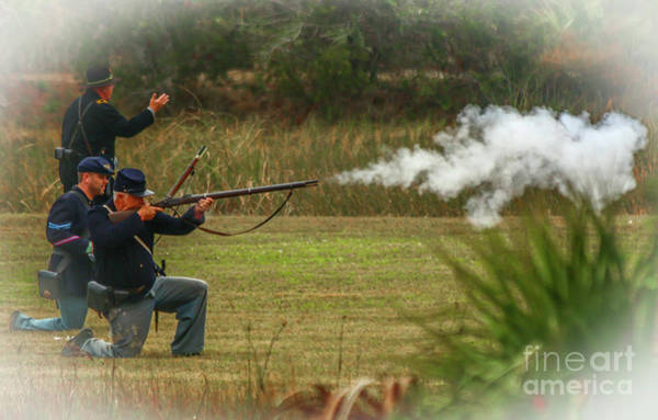 Photograph - Union Rifle Fire by Tom Claud