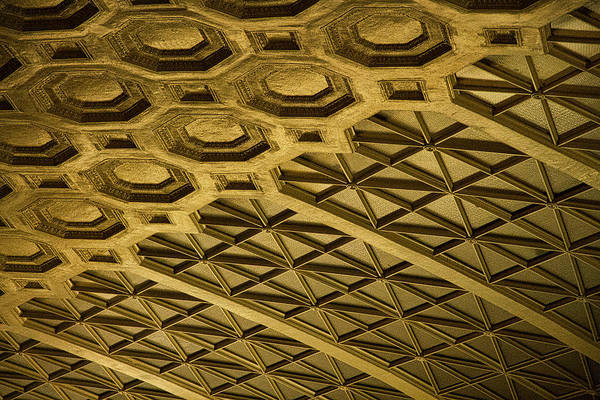 Photograph - Union Station Ceiling #3 by Stuart Litoff