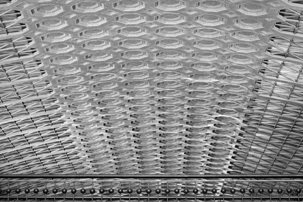 Photograph - Union Station Ceiling - Black And White by Stuart Litoff