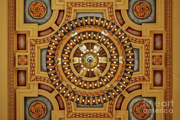 Wall Art - Photograph - Union Station Chandelier by Kevin Anderson