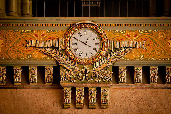 Photograph - Union Station Clock by David Coblitz