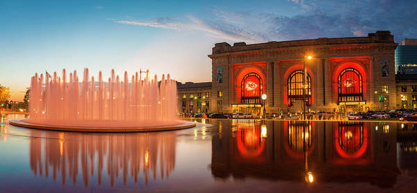 Wall Art - Photograph - Union Station Kansas City Chiefs by Kevin Whitworth
