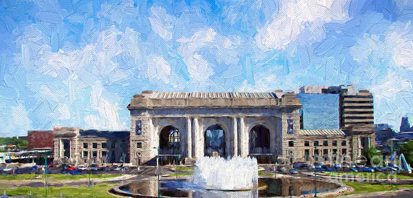 Photograph - Union Station Kansas City Painterly by Andee Design