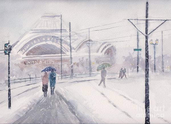Tacoma Painting - Union Station, Tacoma by Yohana Knobloch
