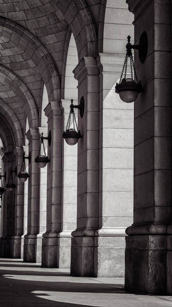Photograph - Union Station Washington Dc Light And Shadow by Joan Carroll